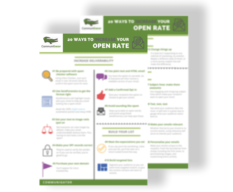 20 ways to increase your open rate - 774 x 640