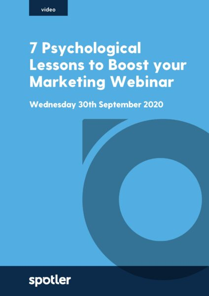 7 Psychological Lessons to Boost your Marketing Webinar
