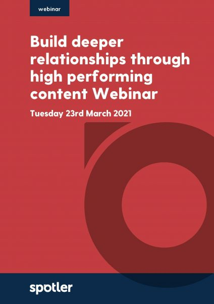 Build deeper relationships through high performing content | Webinar