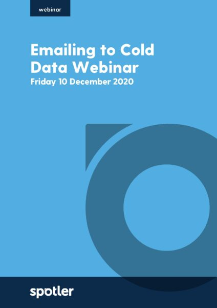 Emailing to Cold Data Webinar