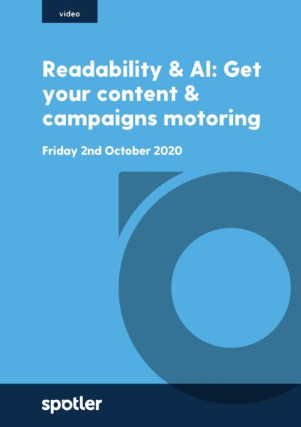 Readability & AI: Get your content & campaigns motoring
