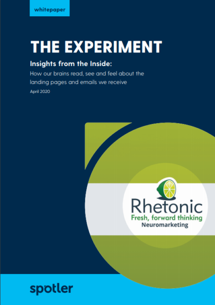 The Experiment: How our brains read, see and feel about the landing pages and emails we receive
